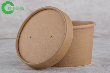 PE Coated Recyclable Disposable Cups For Hot Drinks Oil / Crush Resistance