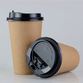 Eco - Friendly Kraft Paper Coffee Cups 8oz 250cc Single Wall PE Film